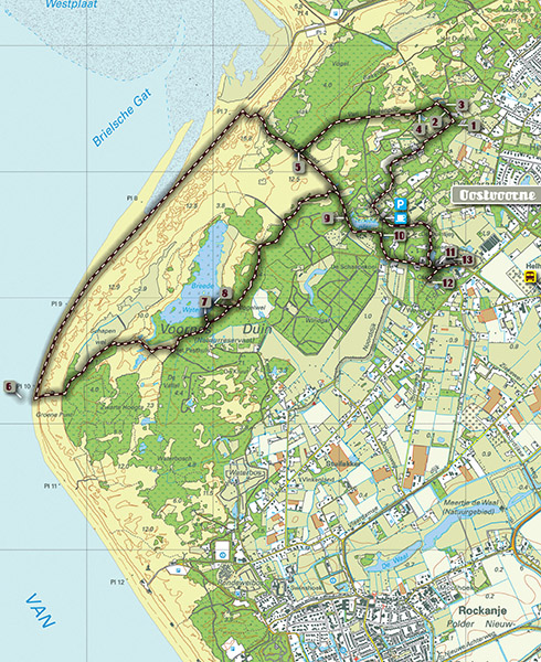 Routekaart Voorne