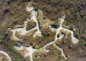 Luchtfoto Bunkerroute De Punt. (Foto: Arthur van Beveren)